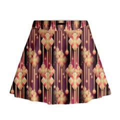 Seamless Pattern Mini Flare Skirt