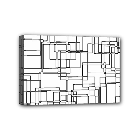 Structure Pattern Network Mini Canvas 6  x 4