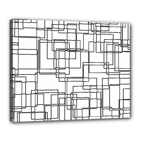 Structure Pattern Network Canvas 20  X 16