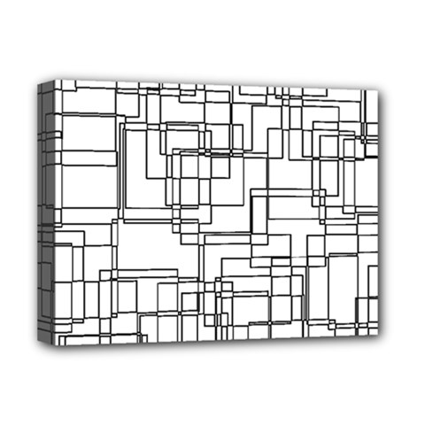 Structure Pattern Network Deluxe Canvas 16  X 12