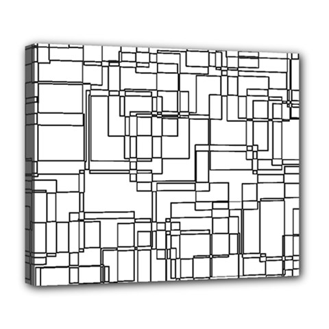 Structure Pattern Network Deluxe Canvas 24  X 20