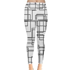 Structure Pattern Network Leggings