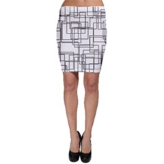 Structure Pattern Network Bodycon Skirt