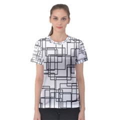 Structure Pattern Network Women s Sport Mesh Tee