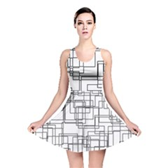 Structure Pattern Network Reversible Skater Dress