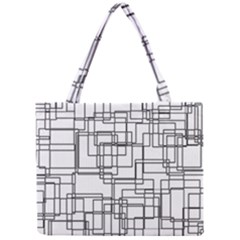 Structure Pattern Network Mini Tote Bag