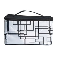 Structure Pattern Network Cosmetic Storage Case
