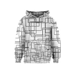Structure Pattern Network Kids  Pullover Hoodie