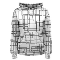 Structure Pattern Network Women s Pullover Hoodie