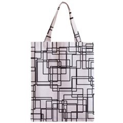 Structure Pattern Network Zipper Classic Tote Bag