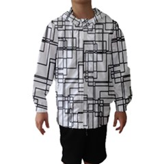 Structure Pattern Network Hooded Wind Breaker (kids)