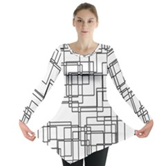 Structure Pattern Network Long Sleeve Tunic