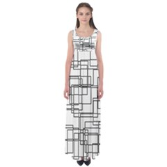 Structure Pattern Network Empire Waist Maxi Dress