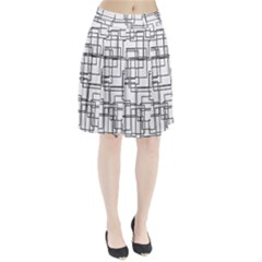 Structure Pattern Network Pleated Skirt