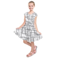 Structure Pattern Network Kids  Short Sleeve Dress