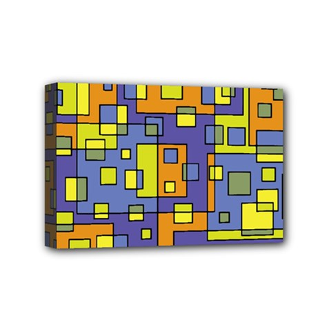 Square Background Background Texture Mini Canvas 6  X 4