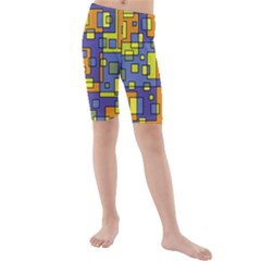 Square Background Background Texture Kids  Mid Length Swim Shorts