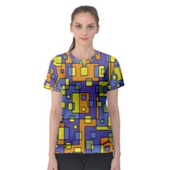 Square Background Background Texture Women s Sport Mesh Tee
