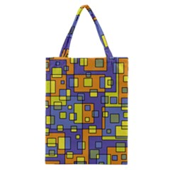 Square Background Background Texture Classic Tote Bag
