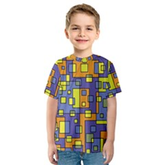 Square Background Background Texture Kids  Sport Mesh Tee