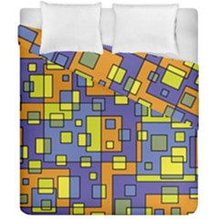 Square Background Background Texture Duvet Cover Double Side (california King Size)