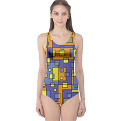 Square Background Background Texture One Piece Swimsuit