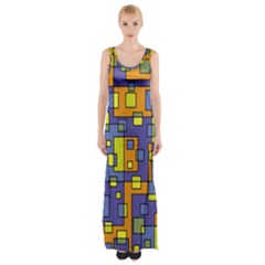 Square Background Background Texture Maxi Thigh Split Dress