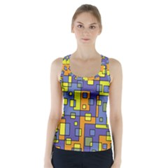 Square Background Background Texture Racer Back Sports Top