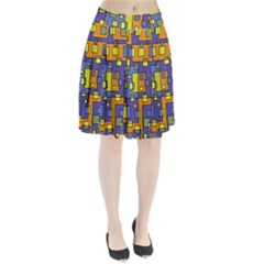 Square Background Background Texture Pleated Skirt