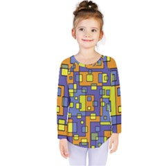 Square Background Background Texture Kids  Long Sleeve Tee