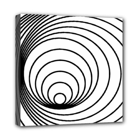 Spiral Eddy Route Symbol Bent Mini Canvas 8  X 8