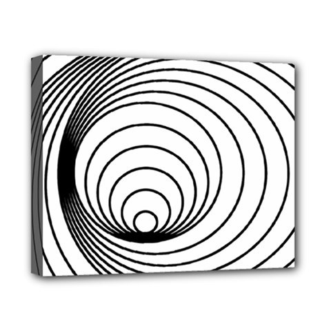 Spiral Eddy Route Symbol Bent Canvas 10  X 8
