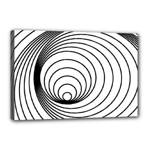 Spiral Eddy Route Symbol Bent Canvas 18  X 12