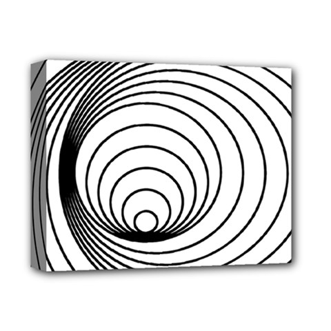 Spiral Eddy Route Symbol Bent Deluxe Canvas 14  X 11