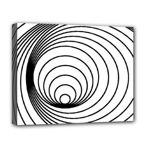 Spiral Eddy Route Symbol Bent Deluxe Canvas 20  X 16