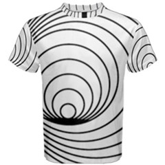 Spiral Eddy Route Symbol Bent Men s Cotton Tee