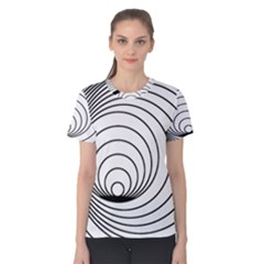 Spiral Eddy Route Symbol Bent Women s Cotton Tee
