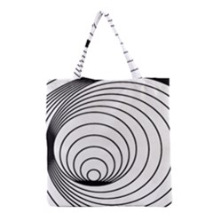 Spiral Eddy Route Symbol Bent Grocery Tote Bag