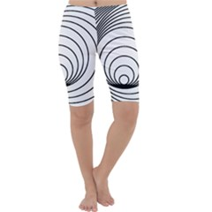 Spiral Eddy Route Symbol Bent Cropped Leggings