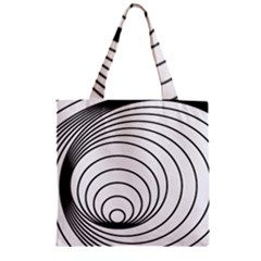 Spiral Eddy Route Symbol Bent Zipper Grocery Tote Bag
