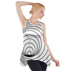 Spiral Eddy Route Symbol Bent Side Drop Tank Tunic
