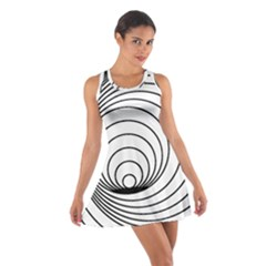 Spiral Eddy Route Symbol Bent Cotton Racerback Dress
