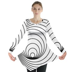 Spiral Eddy Route Symbol Bent Long Sleeve Tunic
