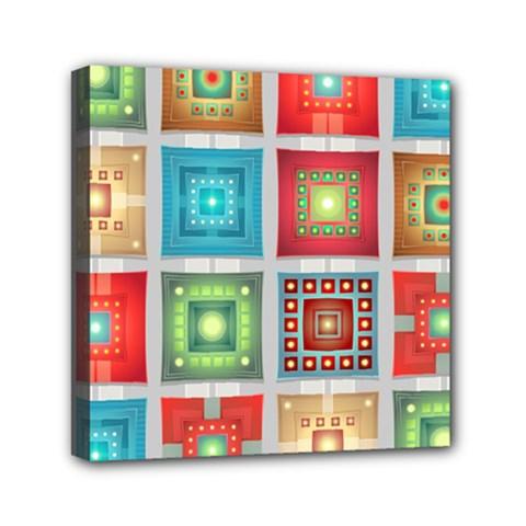 Tiles Pattern Background Colorful Mini Canvas 6  X 6