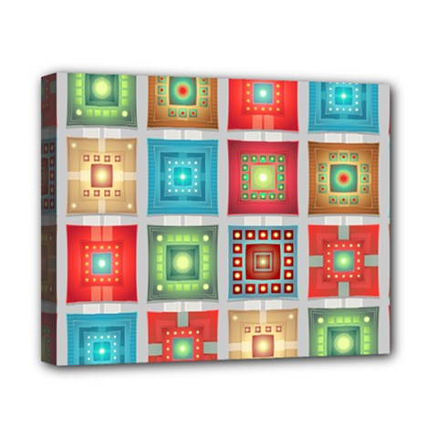 Tiles Pattern Background Colorful Canvas 10  X 8