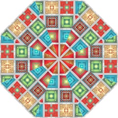 Tiles Pattern Background Colorful Straight Umbrellas