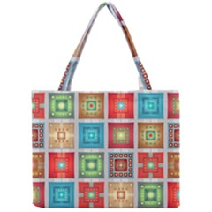 Tiles Pattern Background Colorful Mini Tote Bag