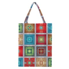 Tiles Pattern Background Colorful Classic Tote Bag