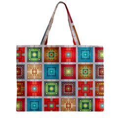 Tiles Pattern Background Colorful Zipper Mini Tote Bag