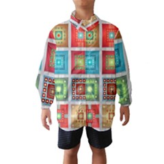 Tiles Pattern Background Colorful Wind Breaker (kids)